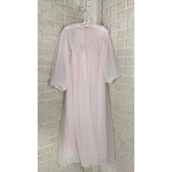 limited guantity large assortment shop for genuine Sexy Vintage Negligee Set Sheer Flowy Chiffon a7